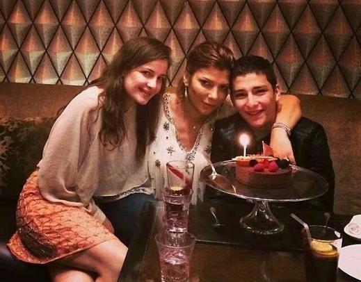 احتقال الفنانة السورية اصالة نصري بعيد ميلاد ابنها خالد وسط اجواء عائلية 2014