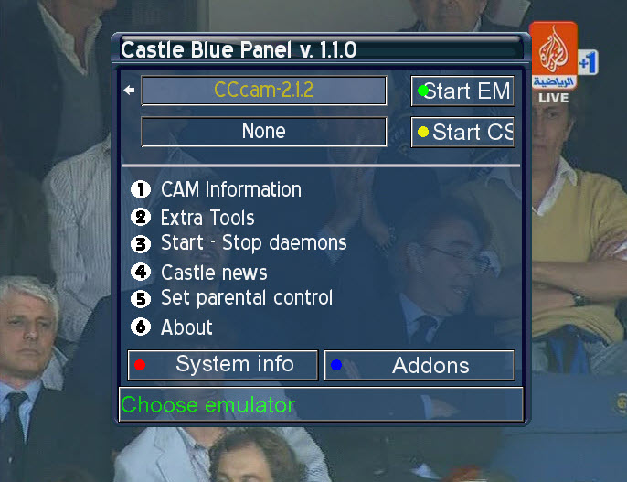 ���� Castle ��������� ���� CCcam2.1.2 �����