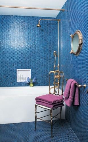 صور حمامات زرقاء اللون فخمة , حمامات فخمة باللون الازرق جديدة