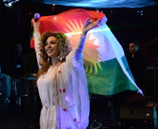 صور ملكة المسرح ميريام فارس في حفل عيد الحرية فى اربيل 2014