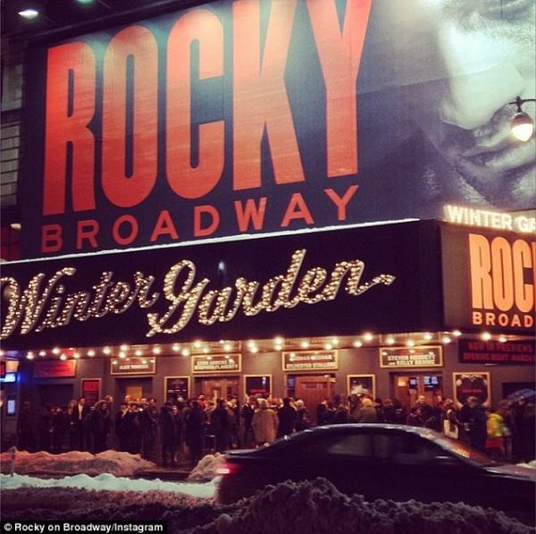 صور سيلفستر ستالون The Musical لفيلمه الشهير Rocky في مسرح Winter Garden في نيويورك 2014