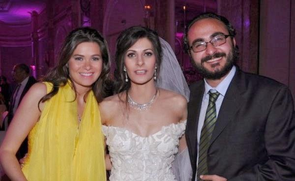 صور يسرا اللوزي مع زوجها خلال حضورهما زفاف صديقتها 2014