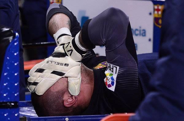 إصابة فالديس حارس برشلونة لمدة 6 أشهر اليوم الاربعاء 26-3-2014