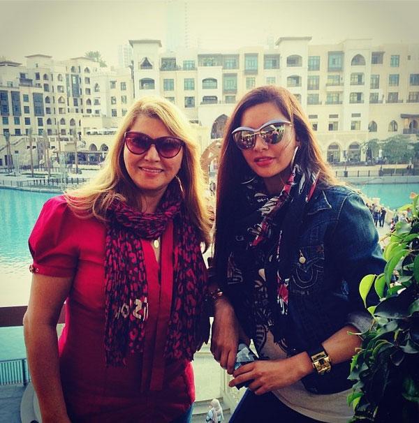 صور النجمة اللبنانية لاميتا فرنجية والدتها وكافة أمهات العالم 2014
