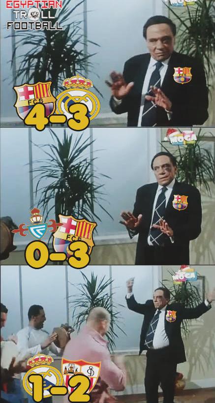 كاريكاتير مضحك عن هزيمة ريال مدريد هذا العام
