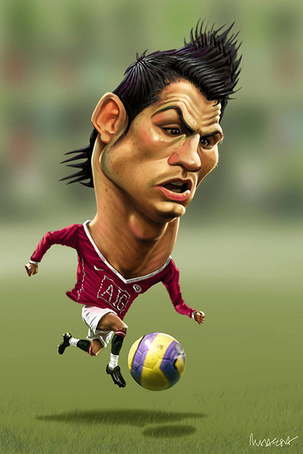 صور كريستيانو رونالدو مضحكة ، اجمل صور كاريكاتير تريقة على كريستيانو رونالدو