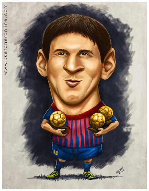 احلى صور تريقة كاريكاتير على ليونيل ميسى لكل مدريدي