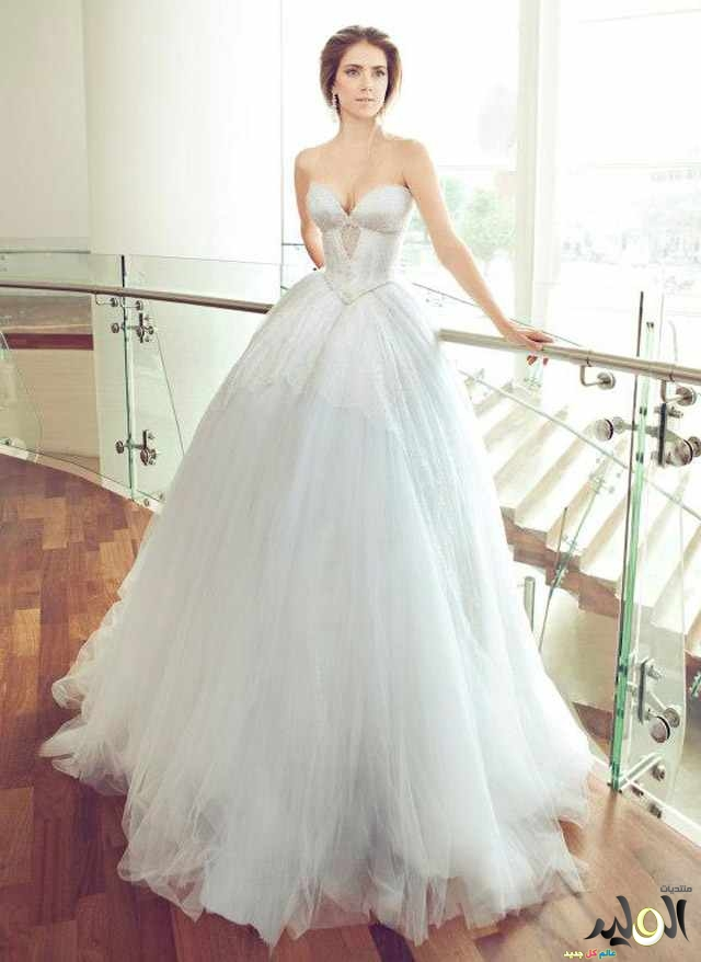 فساتين اعراس راقية تجنن 2015 , فساتين افراح سعودية و اردنية لعام 2015