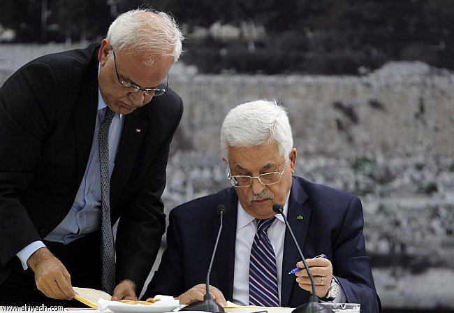 أخبار فلسطين اليوم السبت 5-4-2014 , عباس يوقع طلب الانضمام إلى 15 منظمة ومعاهدة دولية