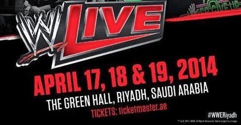 نتائج العرض الثاني من جولة WWE بالسعودية اليوم الجمعة 18-6-1435