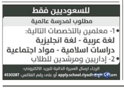 وظائف رجالية اليوم 21-6-1435 ، وظائف شبابية الاثنين 21-4-2014