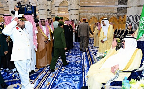 صور وصول خادم الحرمين وولي العهد الى جدة اليوم 1435