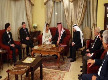 قد قران الأمير فيصل بن الحسين على الآنسة زينا فارس لبادة
