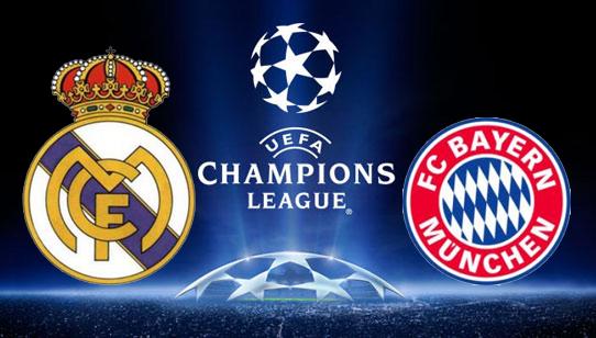 روابط مشاهدة مباراة ريال مدريد وبايرن ميونخ الاربعاء 23-4-2014