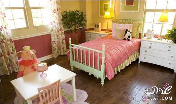 ديكورات غرف نوم اطفال بناتى 2016 , دهانات غرف نوم اطفال كاملة , بالصور ديكورات ودهانات غرف نوم