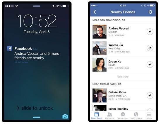 اخبار فيس بوك , فيسبوك تضيف ميزة Nearby friends لتحديد مكان تواجد الاصدقاء
