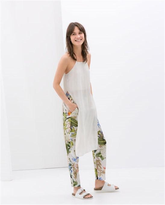 عروض ازياء شركة زارا للصيف , صور تصميمات ملابس نساء للفصل الصيف 2014 , صور ملابس كاجول صيفية 2014