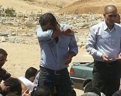 بكاء و انهيار منذر ريحان بالبكاء بعد وفاة زميله على يده اثناء تصوير مشهد وفاته