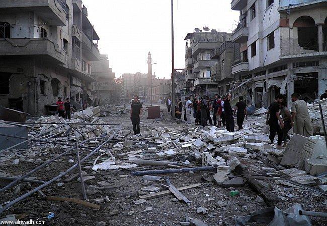 أخبار سوريا اليوم الخميس 8-5-2014 ، بدء خروج الدفعة الأولى من المقاتلين من أحياء حمص