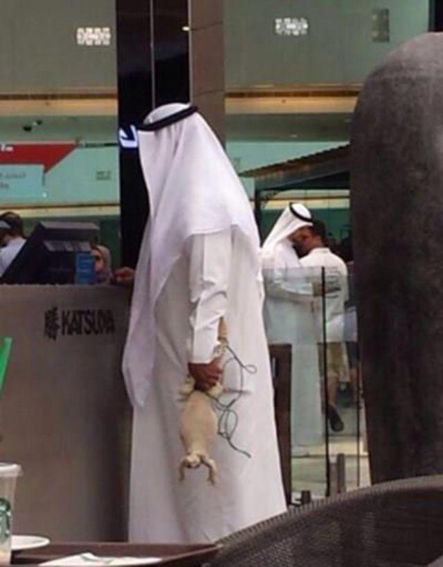 شاهد بالصور الكويتي يتجول في مركز أفنيوز التجاري و معه ضب اليوم 1435