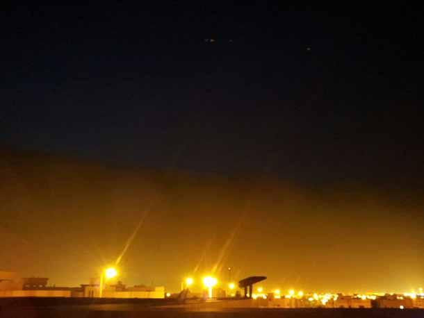 بالفيديو عواصف ورياح واتربة غبار الرياض اليوم الجمعة 11-7-2014