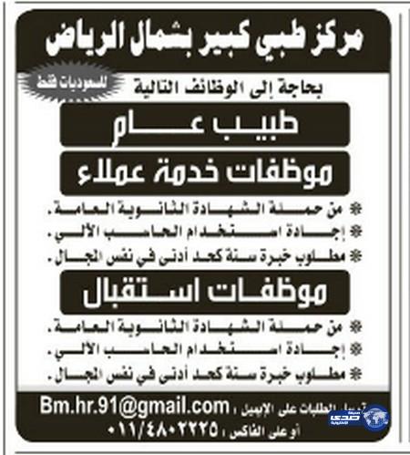 وظائف رجالية جديدة اليوم الاثنين 13-7-1435 , وظائف شبابية في المملكة اليوم الاثنين 12-5-2014