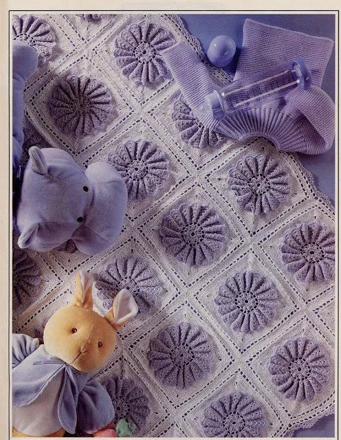 بطانية كروشيه للبيبي بالبترون , طريقة عمل بطانية كروشيه للبيبي , كيفية عمل بطانية كروشيه للبيبي