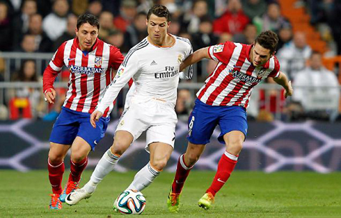 Real Madrid vs Atletico Madrid in the Champions League final on Saturday 24/5/2014