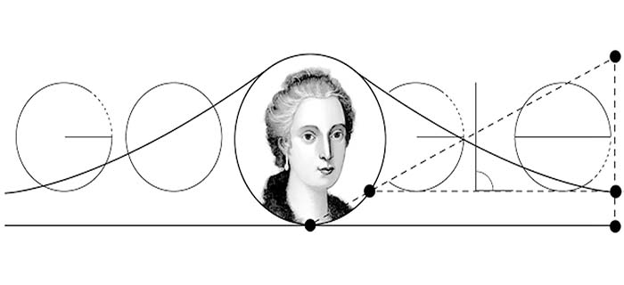 صور شعار الجوجل يحتفل بميلاد ماريا غايتانا أنيزي