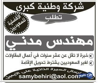 وظائف القطاع الخاص اليوم الثلاثاء 21-7-1435