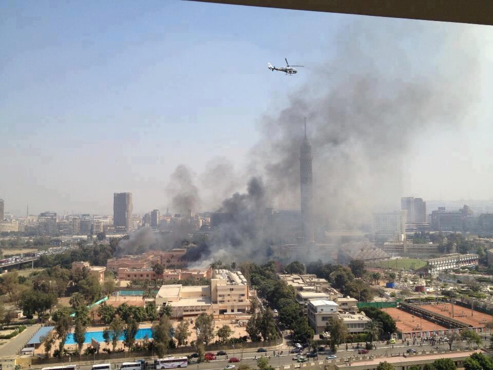 صور حريق النادي الاهلي , نسبة خسائر حريق الجاكوزي والبخار