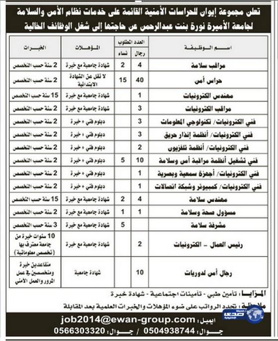 وظائف شاغرة اليوم 5-8-1435 , وظائف جديدة الثلاثاء 3-6-2014