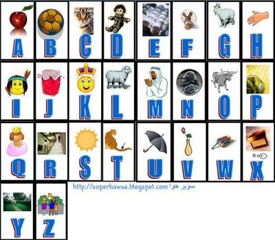 الحروف الانجليزية , تعلم الحروف الانجليزية بالصور