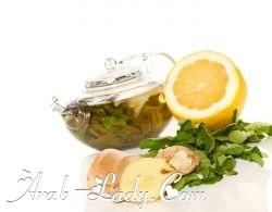 الشاي الأخضر والزنجبيل لتخفيف الوزن