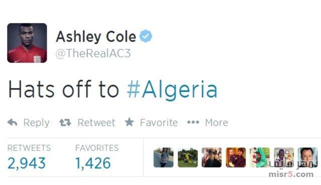 مباراة جيدة وكنت أتوقع أن تحقق الجزائر الفوز في هذه المباراة
