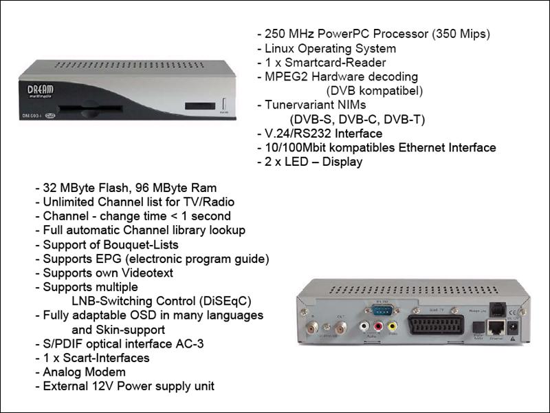 مواصفات ومميزات +dm500