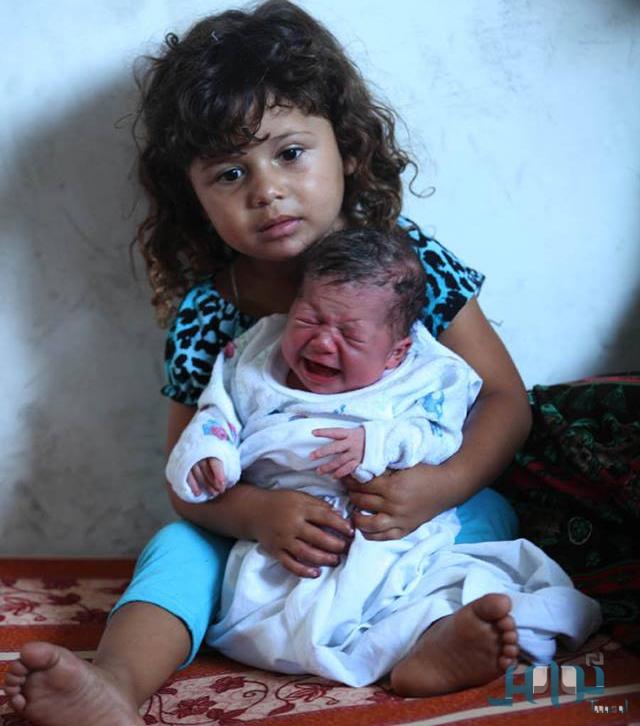 اسم أحدث مولودة بالقطاع , صور غزة تقاوم