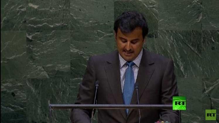 يوتيوب كلمة أمير قطر أمام الجمعية العامة للأمم المتحدة