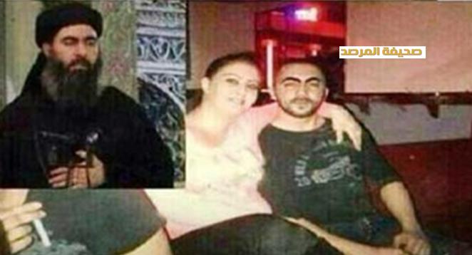 صورة خليفة داعش أبو بكر البغدادي في ملهى ليلي