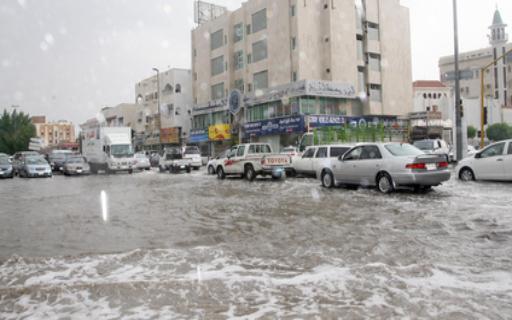 صور امطار الخير في الاردن , مياه الامطار تحاصر 9 اشخاص في اربد