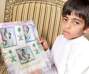 صور الشهيد محمد العنزي فى زيارة الأمير نايف بن عبد العزيز اثناء علاجه