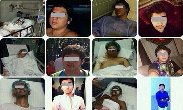 اسماء وصور جثث وضحايا غاز الضحك في جدة , صور إنفجار سيارة طلاب في جدة