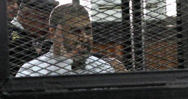 بالصور محاكمة بديع ونائبة فى قضية أحداث مكتب الارشاد 9/11/2014
