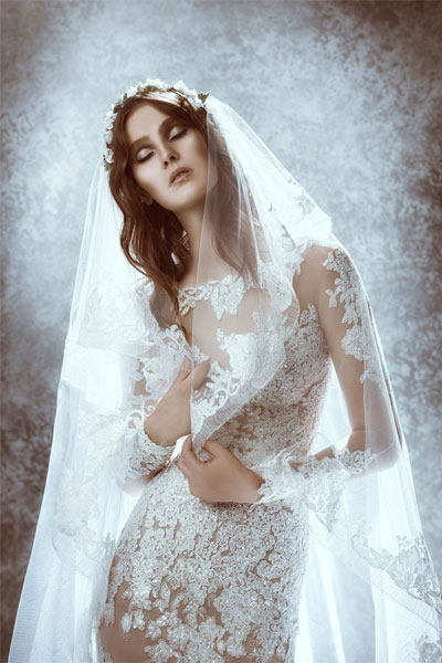 صور فساتين زفاف زهير مراد 2015