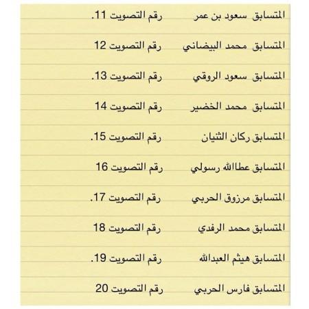 أرقام التصويت للمشتركين برنامج زد رصيدك 4