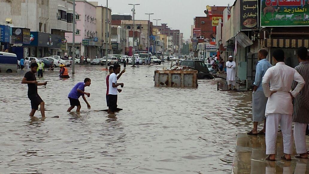 صورأمطار جدة تغرق حي قويزة اليوم الاحد 1-2-1436 , فيديوأمطار جدة تغرق حي قويزة الاحد 23-11-2014