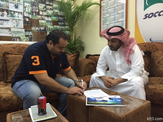 وقعت إدارة نادي كرة القدم بعمليات الخفجي المشتركة عقد تنظيم وتنفيذ حفل افتتاح دوري عمليات الخفجي
