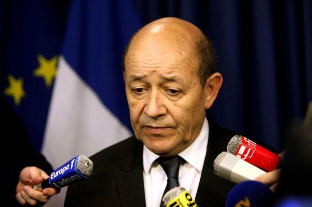 وزير الدفاع الفرنسي جان ايف لودريان تصريحات بشار الأسد عن الضربات ضد داعش فضيحة