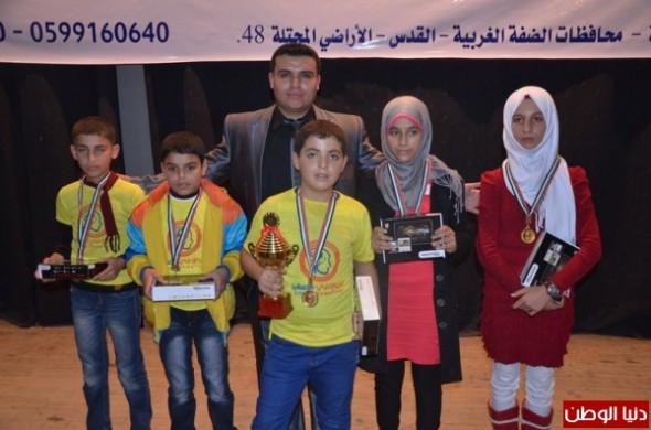 طفل فلسطيني يحصل على لقب خورزامي فلسطين
