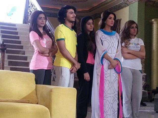 صور ميساء المغربي في مسلسل للحب جنون 2015 , صور ازياء وفساتين ميساء المغربي
